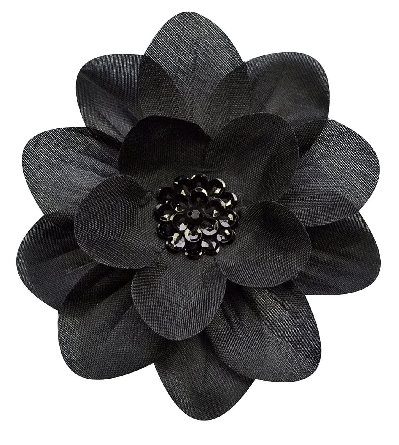 Amazon Claribel Flower Hair Clip Black Clothing