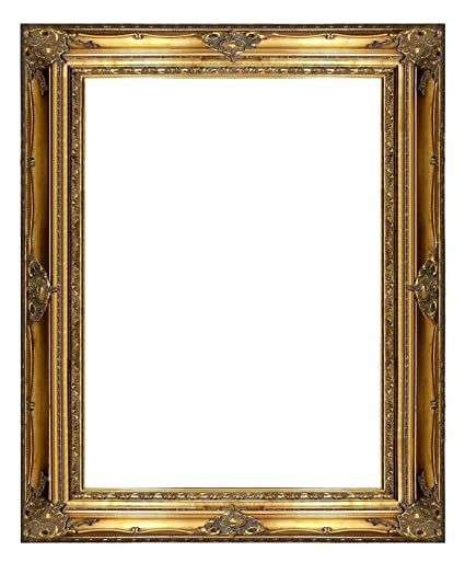 Amazoncom 7 Thick Ornate Gold Wooden Frame 36x48 Inch