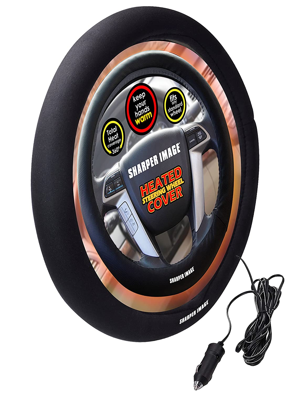Sharper Image SI-AA4 Heated Steering Wheel Cover Smart Planet
