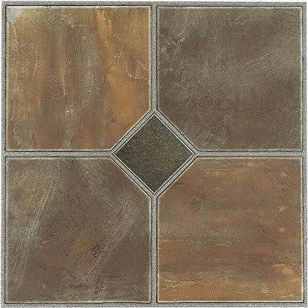1 Box 20 Tiles Creative Home 421 Beige Terracotta Center Motif Covers 20 Sq Ft. Nexus Vinyl Self Stick Tile
