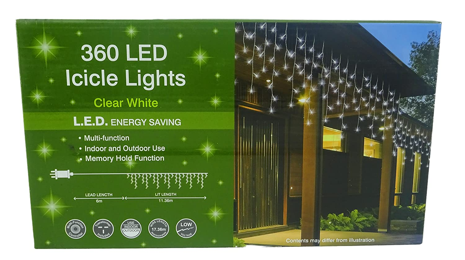 360 Clear Bright White Led Christmas Lights Multi Function