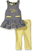 Calvin Klein Baby Girls' Dobby Knit Tunic and Yellow Jersey Spandex Leggings