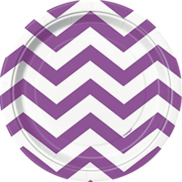 Purple Chevron Paper Cake Plates 8ct  sc 1 st  Amazon.com & Amazon.com: Purple Chevron Paper Cake Plates 8ct: Kitchen u0026 Dining