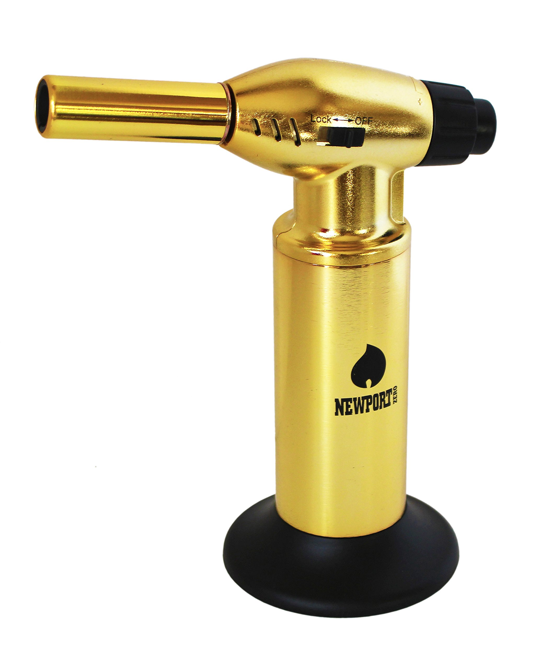 Creme Brulee Culinary Kitchen Torch - Cooking Torch & Multifunction Butane Torch Lighter - Intense Adjustable Jet Flame (Up to 2400 F) - Includes Safety Lock, Piezo Ignition, and Quick Refill System - 10'' Gold by Newport (Image #10)