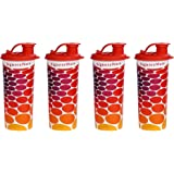 Signoraware Stylish Energy Jumbo Sipper Set, 500ml, Set of 4, Deep Red