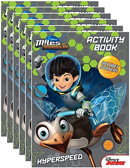 Disney Juniors Miles From Tomorrowland Coloring And Activity Book With Stickers Pack Of 6