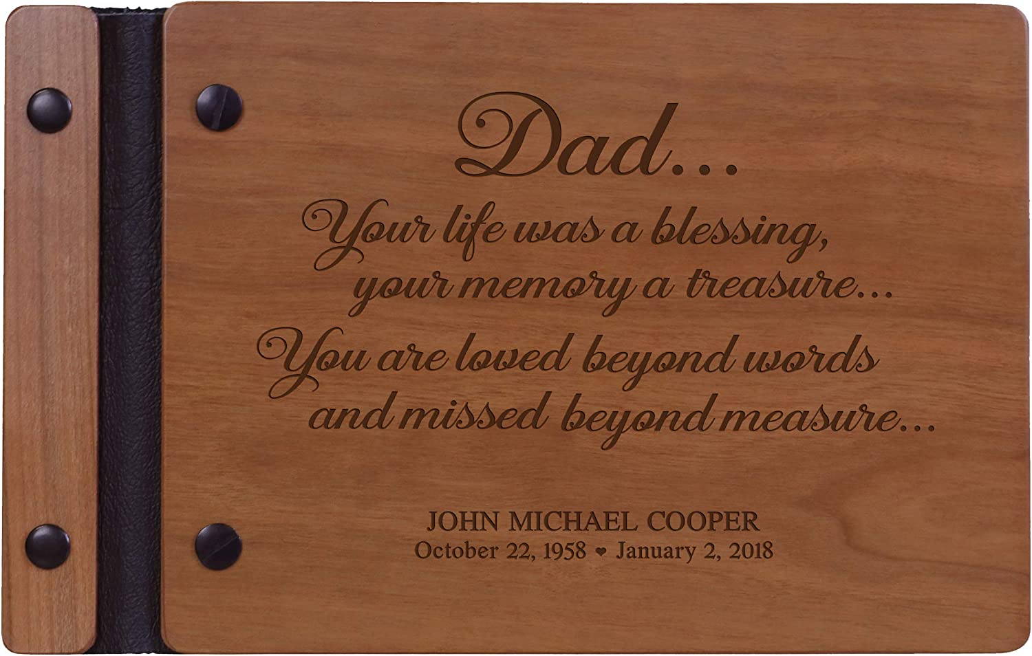 Oak Custom Memorial Solid Wood Plaque//Sign with Stand