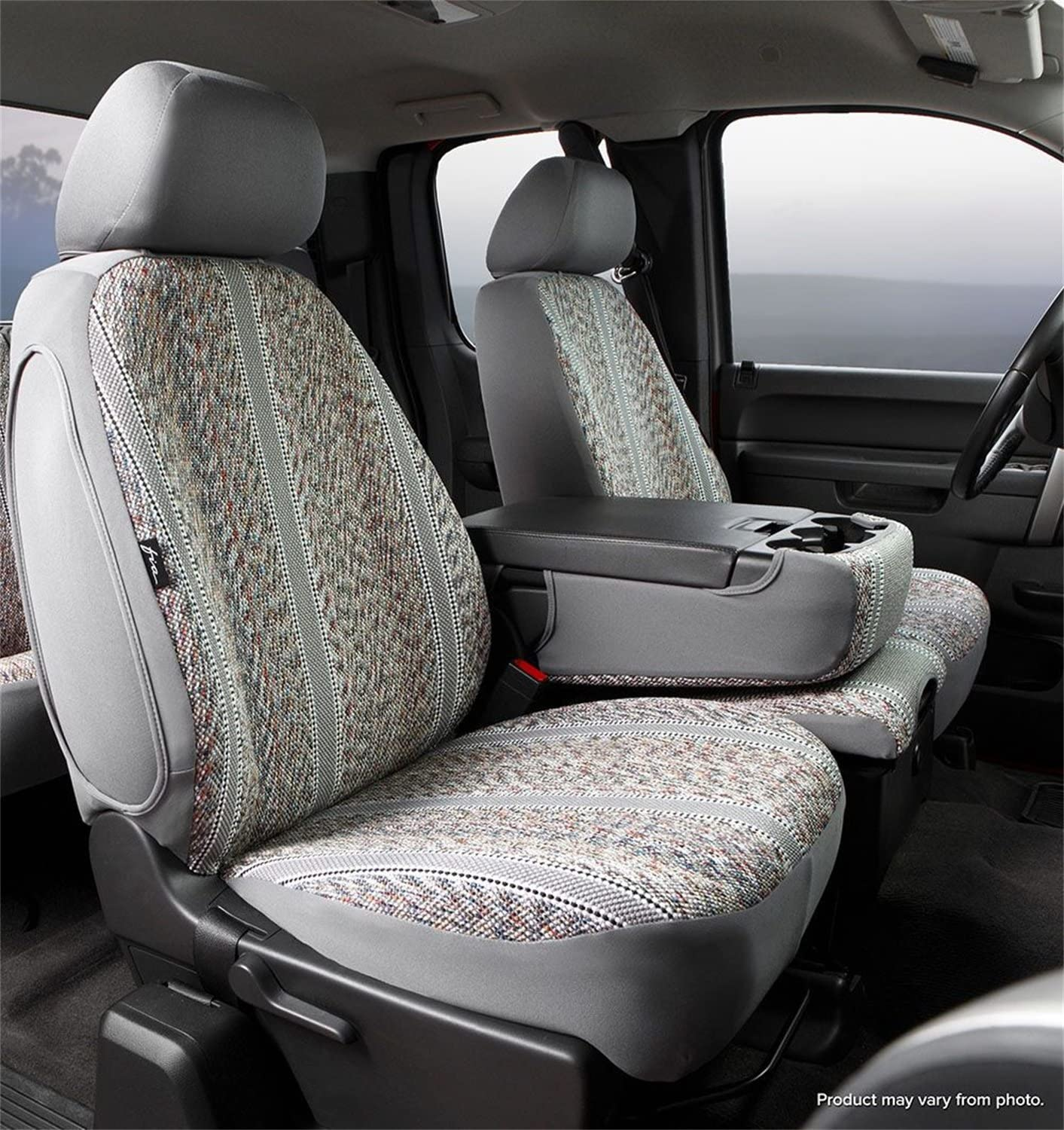 Fia TR49-39 GRAY Custom Fit Front Seat Cover Bucket Seats Gray Saddle Blanket,