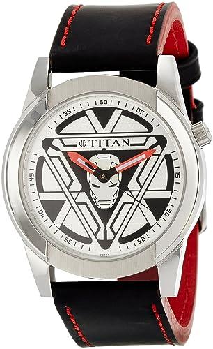 dcb90b322 Buy Titan Iron Man 3 Analog Multi- Colour Dial Men s Watch - 1588SL05 Online  at Low Prices in India - Amazon.in