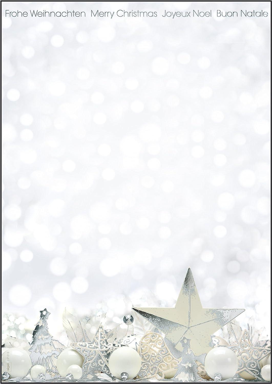 SIGEL DU250 Buste natalizie DL 25 pezzi motivo: Christmas Timber 110x220 mm