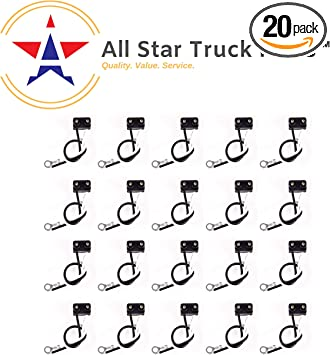 ALL STAR TRUCK PARTS Qty 20 3 Prong Pigtail Wire Right Angle Plug for Truck Trailer Stop Turn Tail