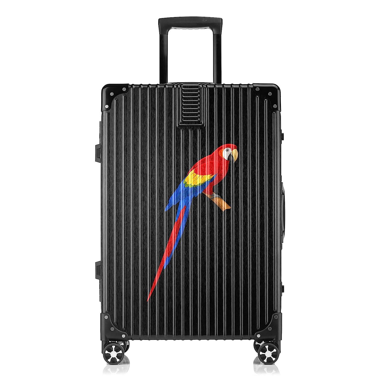 GSHCJ スーツケース すばしこい動物 オウム キャリーケース 20インチ おしゃれ ブラック Tsaロック搭載 プリント ハード 超軽量 軽い 機内持込 ロックファスナー 旅行 ビジネス 出張 海外 修学旅行 丈夫 便利 レディース メンズ 学生 B07RZ7Z6XF
