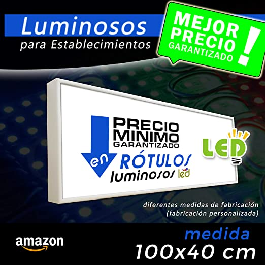 Rótulo luminoso led 100x40 cm, letrero luminoso led, cartel ...