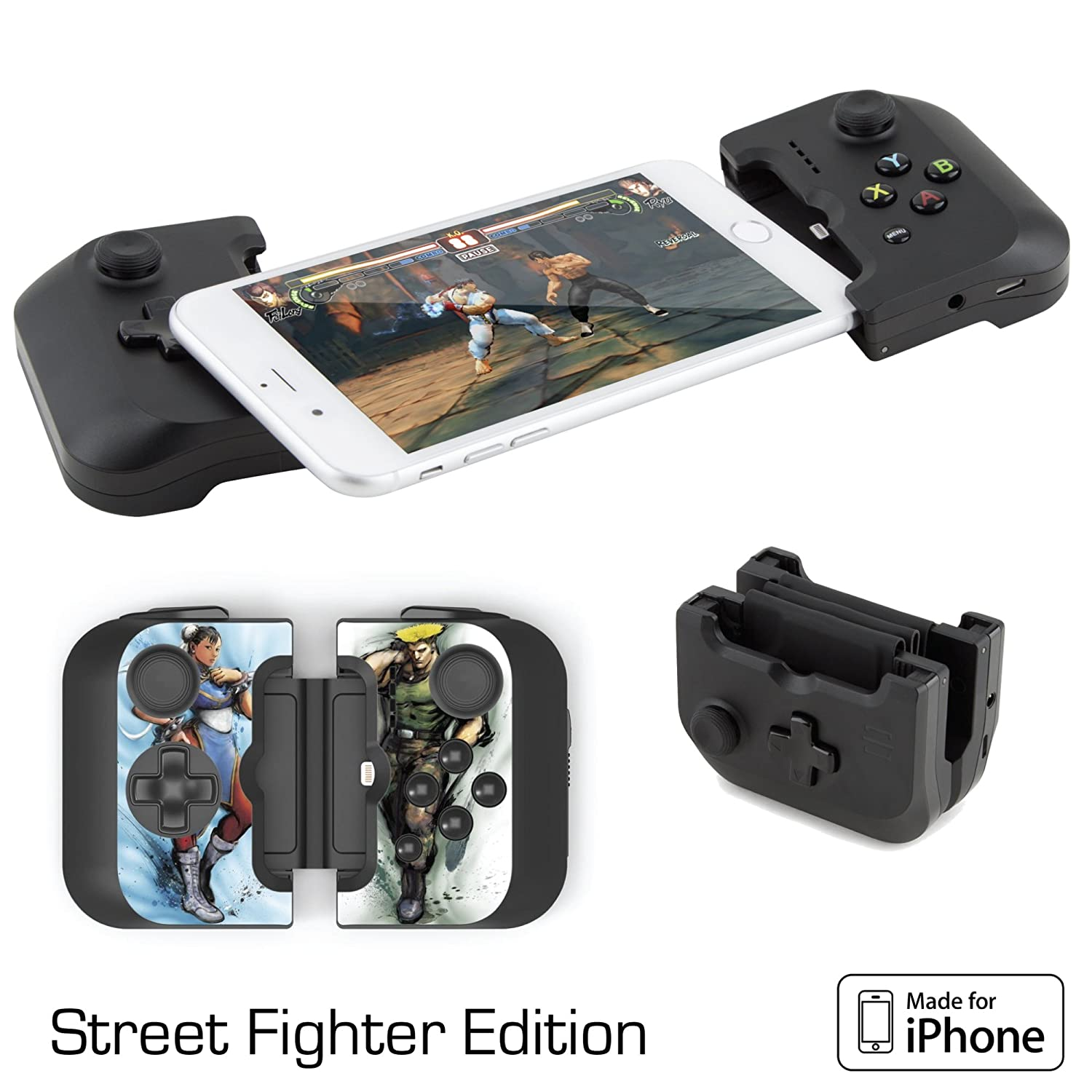 on sale c077f 9419b Gamevice Controller Gamepad - iPhone Game Controller [Street Fighter  Bundle] (Apple MFi Certified) iPhone X Gaming, iPhone X, 8 Plus, iPhone 7  Plus, ...