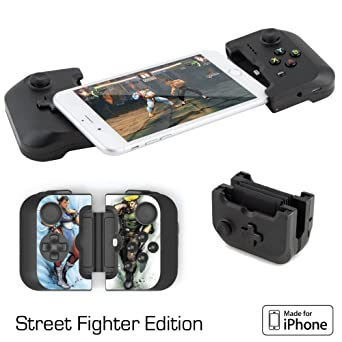 on sale c63c9 12d7a Gamevice Controller Gamepad - iPhone Game Controller [Street Fighter  Bundle] (Apple MFi Certified) iPhone X Gaming, iPhone X, 8 Plus, iPhone 7  Plus, ...