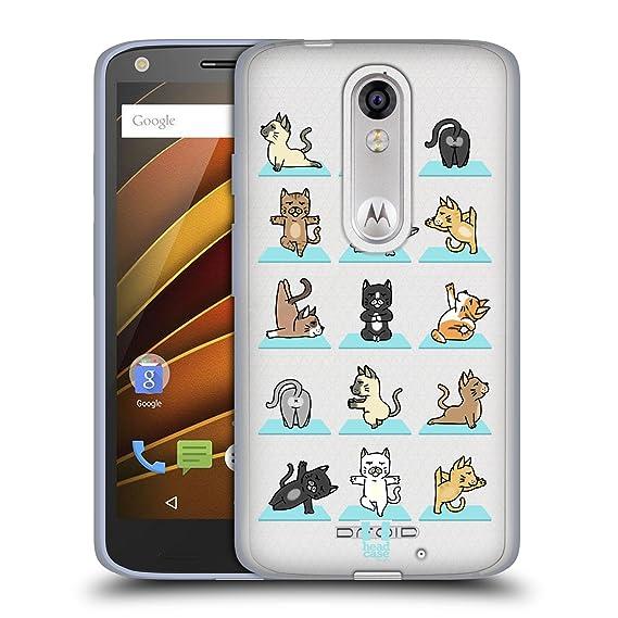 Amazon.com: Head Case Designs Cat Yoga Animals Soft Gel Case ...