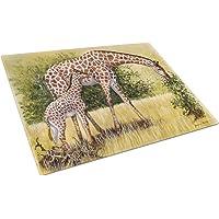 Caroline's Treasures BDBA0309LCB Giraffes by Daphne Baxter Glass Cutting Board, Large, Multicolor