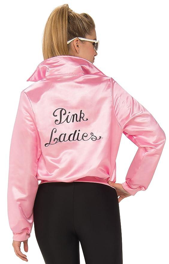 33844ae2787 Amazon.com  Rubie s Costume Co Grease 50 s Pink Ladies Plus Size Jacket  Plus Size  Clothing