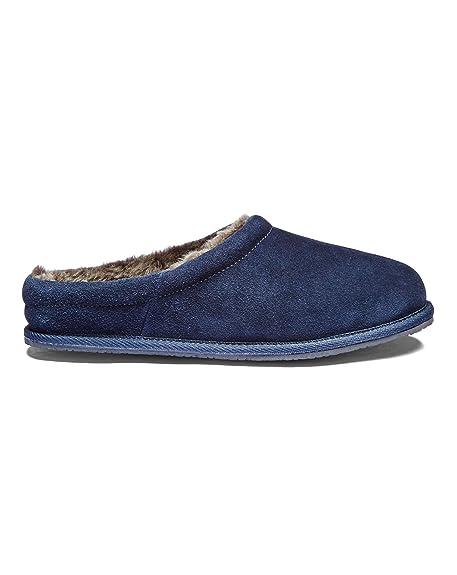 J D Williams PA154 - Zapatillas de Estar por casa de Cuero para Hombre, Color Azul, Talla 42.5: Amazon.es: Zapatos y complementos