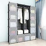 SIMPDIY Armario sistematizado, 12+2 cubo plegable o colgante, armario almacenamiento gran capacidad estilo familiar para…