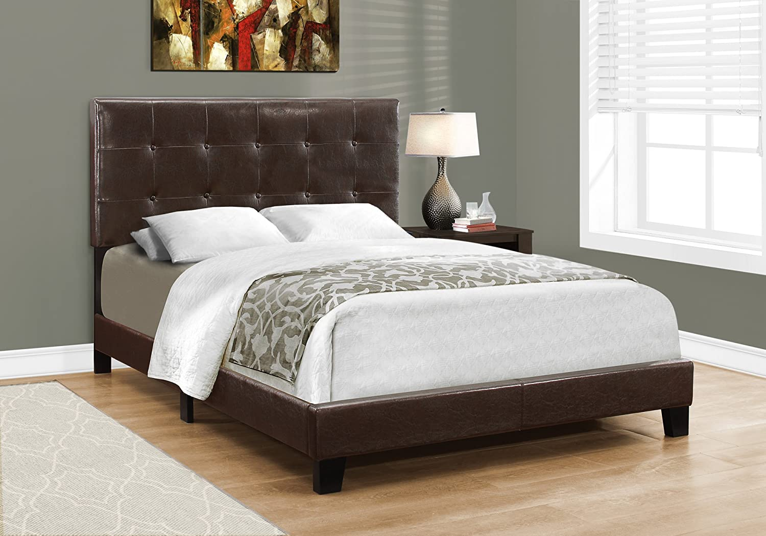 Monarch Specialties Bed Frames, Full, Brown