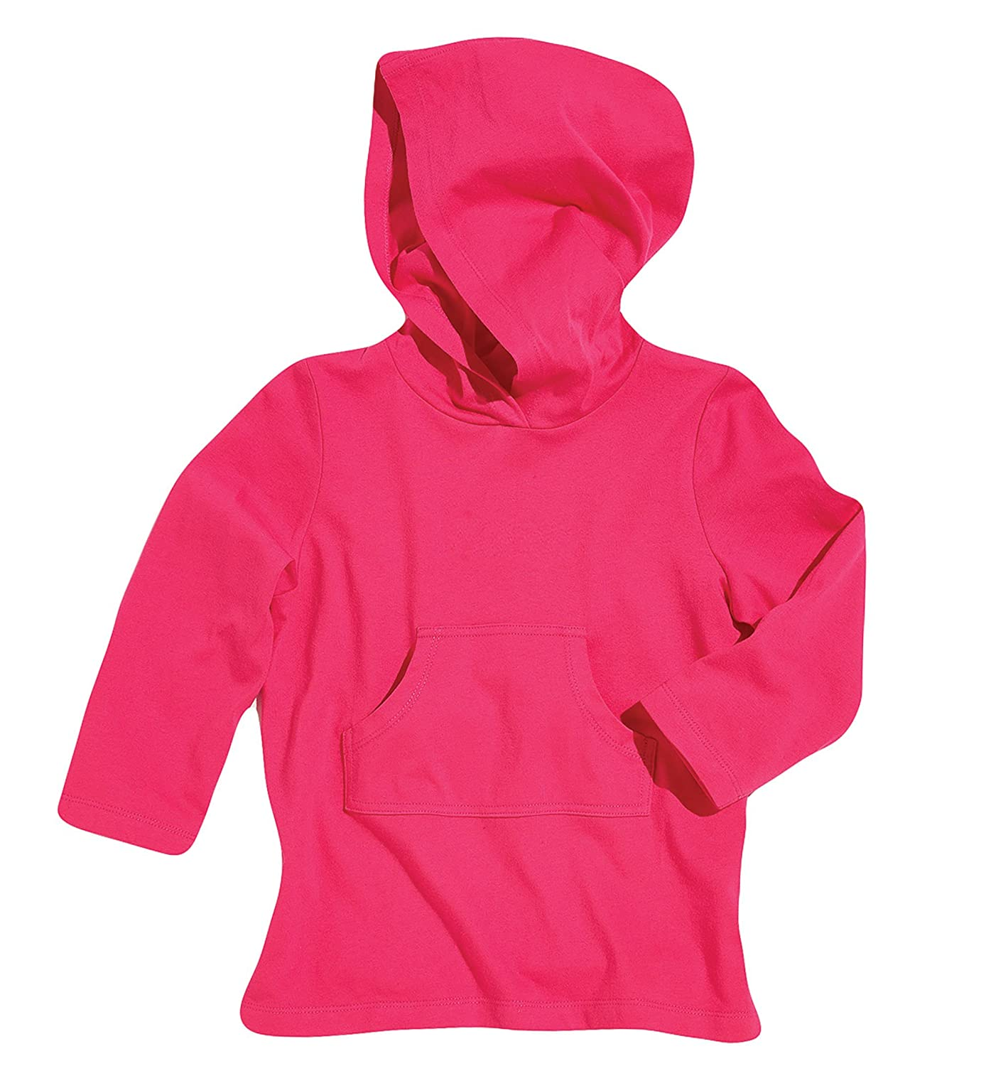 Sun Smarties Cotton Girls Long Sleeve Hoodie Shirt Swim or Beach Cover-Up UPF50+ 6890383