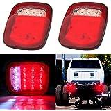 CCIYU 2 Pack 76-06 Wrangler CJ YJ TJ LED Tall Lights Jeep TraIler Rubicon Off Road