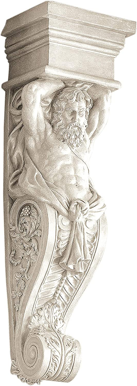 Design Toscano Telamon Wall Sculpture, Male