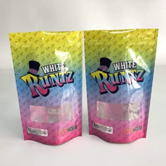 Amazon com: White Runtz Brand Mylar Bag 14g-28g (Multi-Color