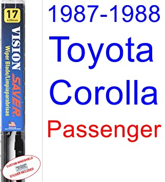 Amazon.com: 1987-1988 Toyota Corolla FX16 Wiper Blade (Passenger) (Saver Automotive Products-Vision Saver): Automotive