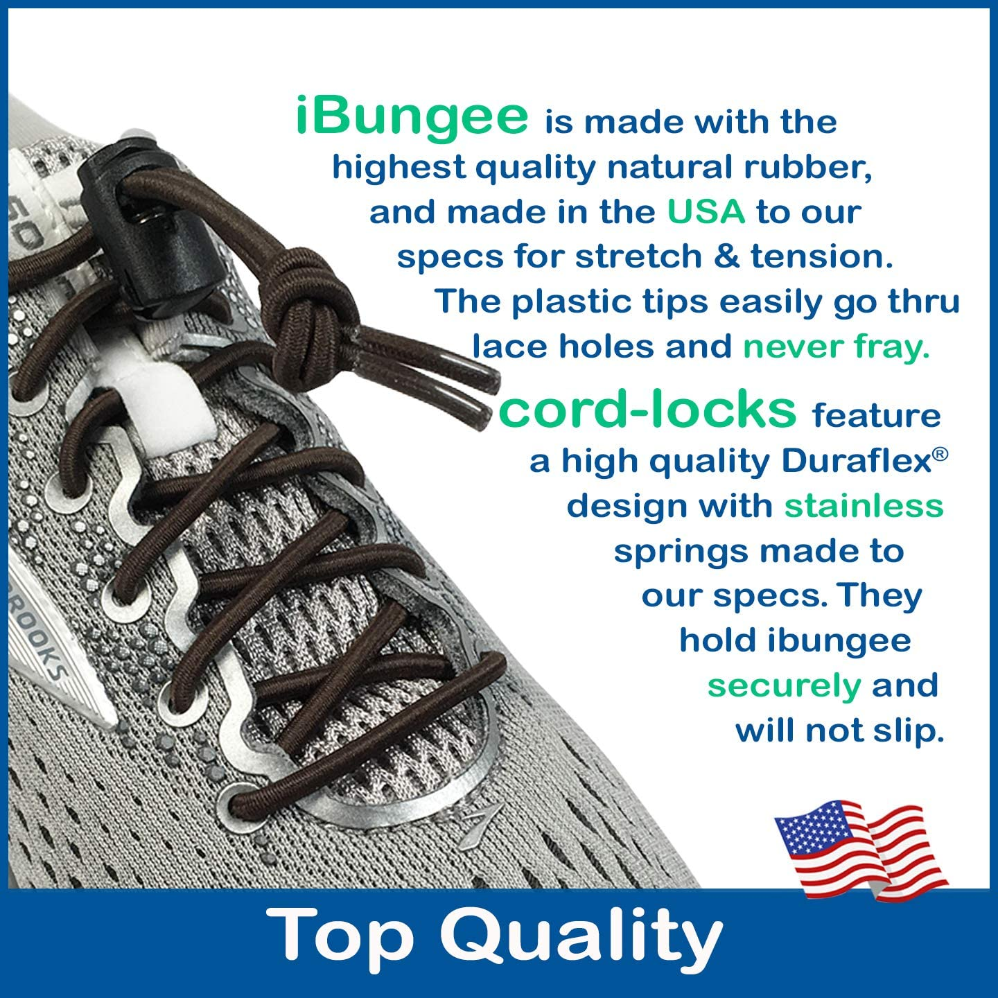 4 X Speed Laces ibungee Stretch Lacets