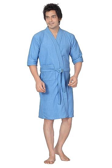 2e3de1c88d Buy Superior Terry Towel Cotton Base Bathrobe for Combo (Sky Blue ...