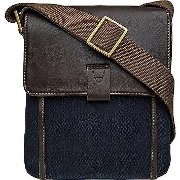 ccbb6899da Hidesign Aiden Genuine Leather and Canvas Mini Crossbody Men/Women  Messenger Bag / Travel Bag / 10.5