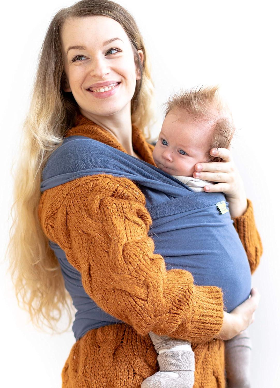 Portabebés Boba, el original Portador de Bebés Elástico, Perfecto para Bebés Recién Nacidos y Niños de hasta 35 lbs. (Vintage Blue)