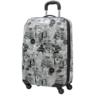 Overland Travelware World Destination 20 Inch Hardside Suitcase, Gray, One Size