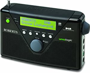 Roberts Radios Unologic DAB/FM RDS Digital Radio with Built-in Battery Charger - Black