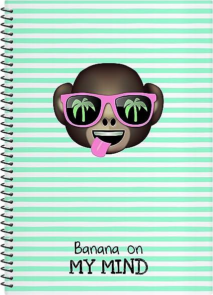 El Jardin de Noa EBN1019D - Cuaderno con espiral, A4: Emoji By Noa: Amazon.es: Oficina y papelería