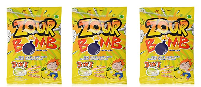 Zour Bomb Candy Lemon 110g Pack Of 2 Amazonin Grocery