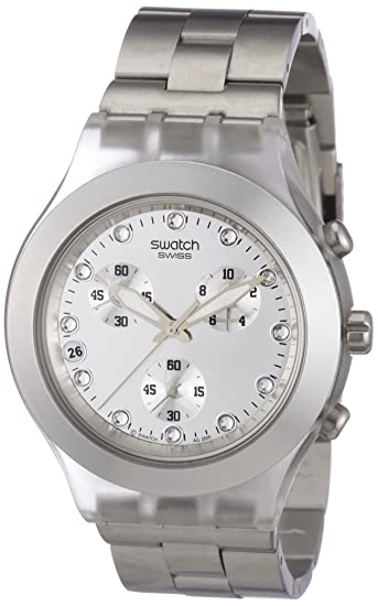 Swatch DIAPHANE CHRONO - Reloj de mujer de cuarzo, correa de acero inoxidable color plata: Swatch: Amazon.es: Relojes