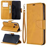 Lomogo Xiaomi Redmi 7 / Y3 Case Leather Wallet Case with Kickstand Card Holder Shockproof Flip Case Cover for Xiaomi Redmi7 / Redmi Y3 - LOBFE150646 Yellow