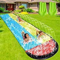 Slip and Slide Water Slide for Kids and Adults -16FT Long Giant Adult Slip and Slide for Outside with 2 Surfboards…