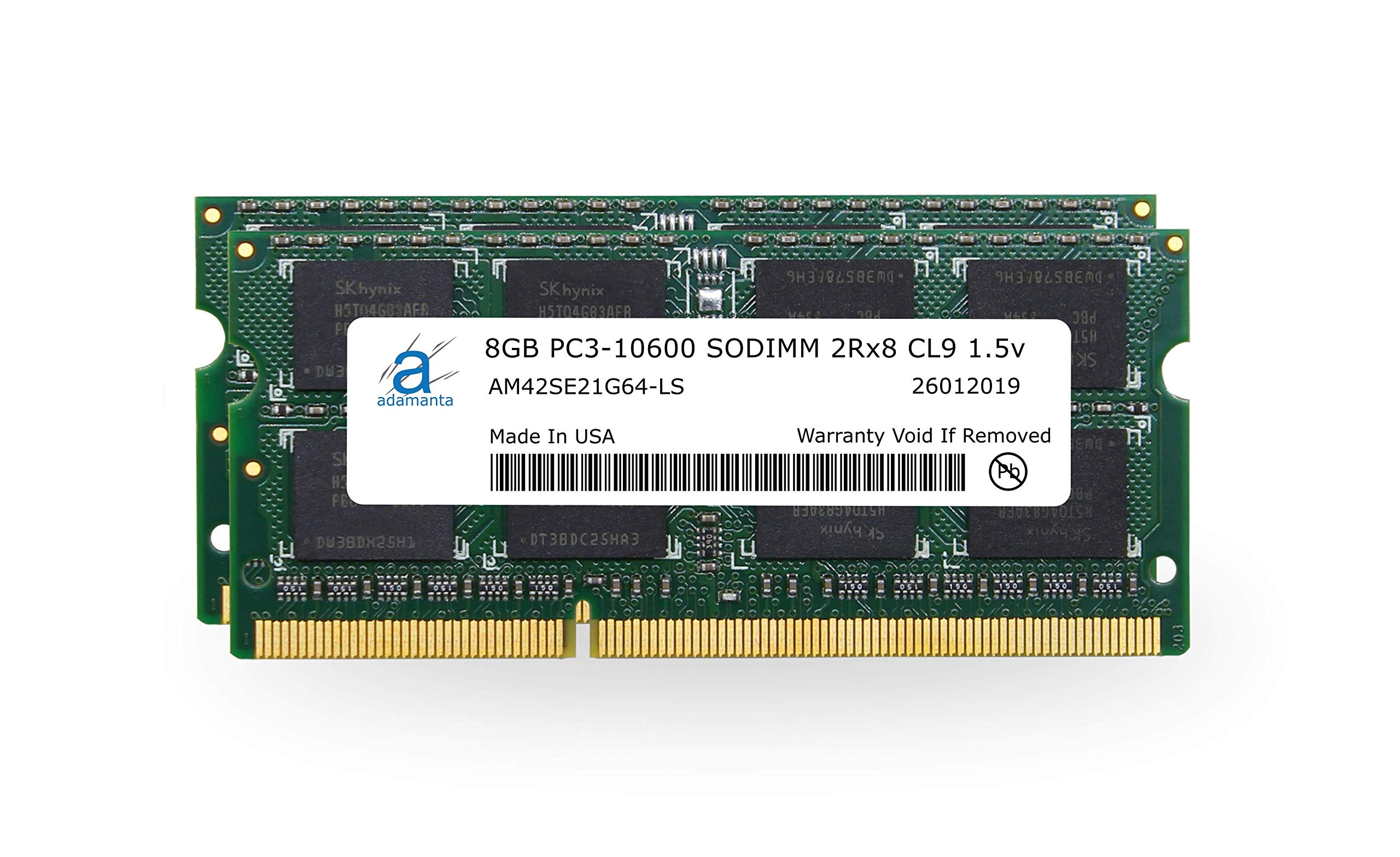 Memoria Ram 16gb Adamanta (2x8gb) Upgrade Compatible Para Apple iMac Macbook Pro Mac Mini Ddr3 1333mhz Pc3-10600 Sodimm