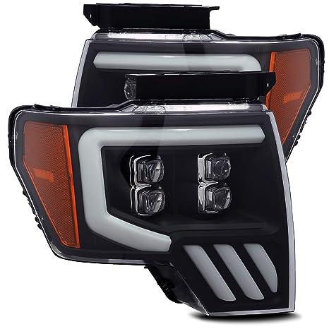 2014 F150 Headlights >> Amazon Com Alpharex Black Nova Series Full Led Projector