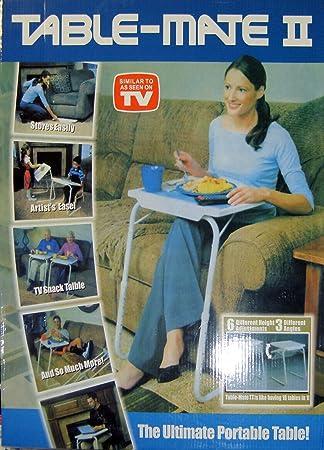 PORTABLE ADJUSTABLE FOLDING TABLE MATE AS ON TV