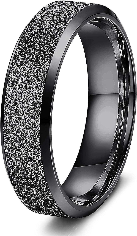 Yadoca Ring Edelstahl F/ür Herren Damen Brilliant Mit Stein Cz Ring Helix Breit 6mm Schwarz-Tone Silber-Tone Eheringe Trauringe Verlobungsring