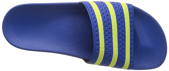 9c13f01c565b adidas Originals Men s Adilette Blue and Light Flash Yellow Flip Flops  Thong Sandals - 14 UK  Buy Online at Low Prices in India - Amazon.in