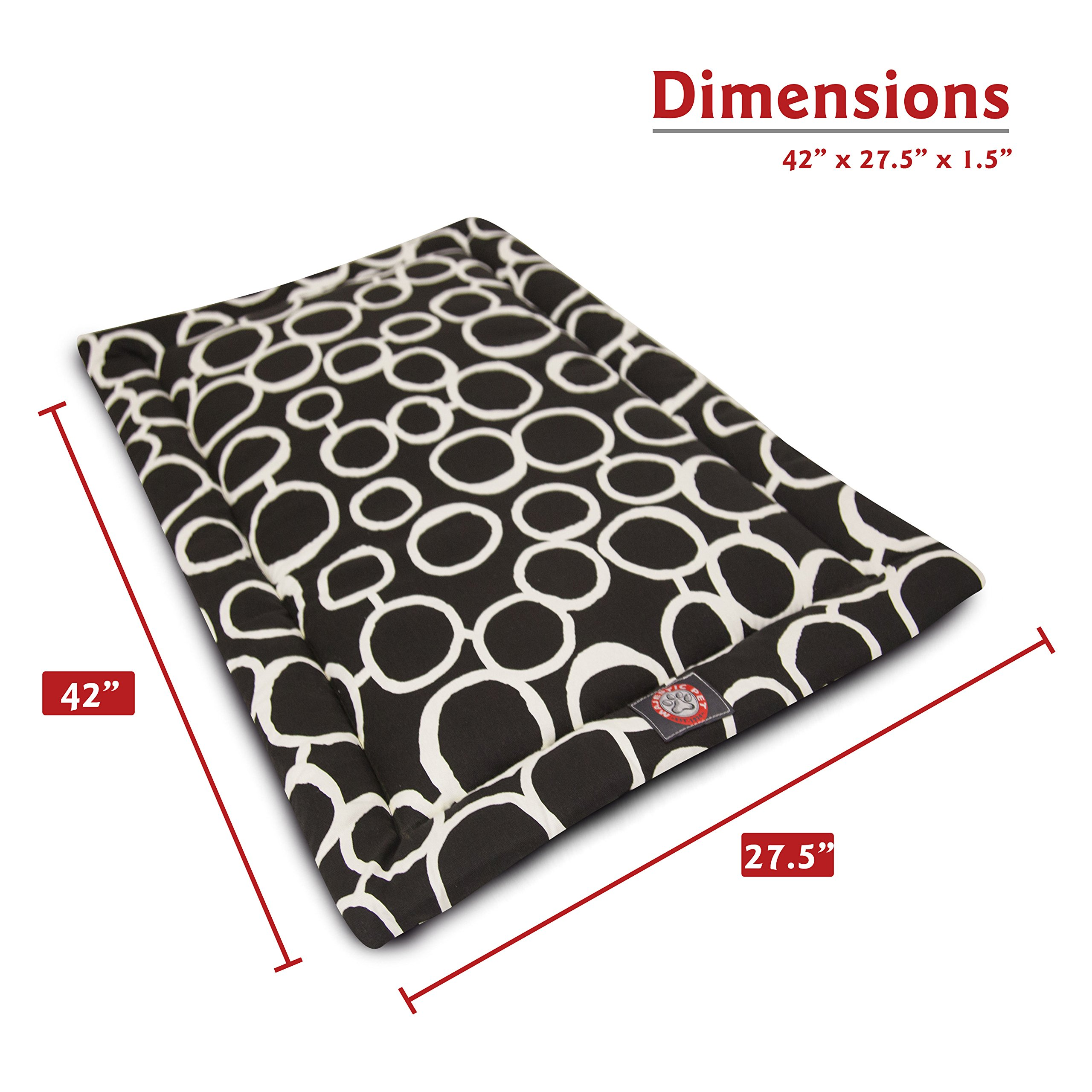 Majestic Pet 42'' Fusion Black Crate Dog Bed Mat Products by Majestic Pet (Image #3)