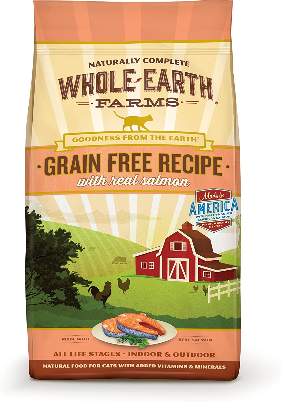 Whole Earth Farms Grain Free Real Salmon Recipe Dry Cat Food