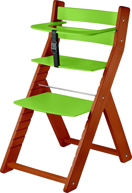 WOOD PARTNER Kinderstuhl-Hochstuhl – LUCA KIRSCHE-T02 - grün