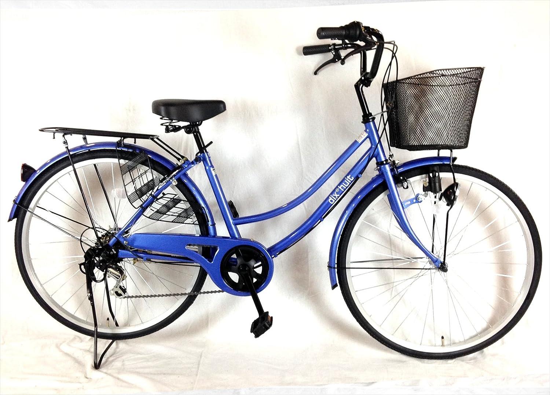大きな幅広カゴの自転車ブルー OGK樹脂かご サントラスト B01N5SHI6V